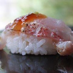 甘鯛昆布締めの炙り鮨