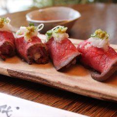 見蘭牛のローストビーフ鮨