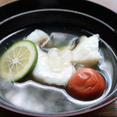 キジハタとタピオカの煮物椀